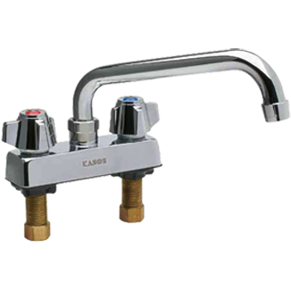 "Commercial Kitchen 4"" Center Deck-Mount Faucet with 6"" Spout - AT Faucet"