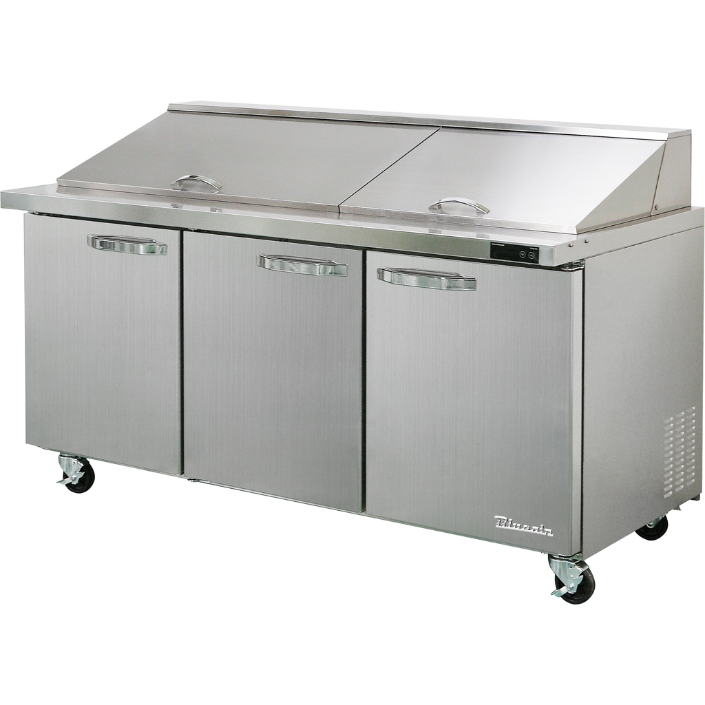 "Blue Air Heavy Duty 20.2 Cu. Ft. Mega Top Refrigerated Sandwich Prep Table 72"" - AT Faucet"