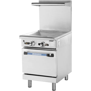 Radiance TAR-24G Commercial Kitchen Restaurant Range with Thermostatic Griddle Top - AT Faucet