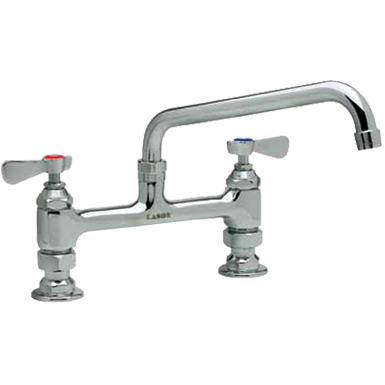 "Commercial Kitchen 8"" Center Deck-Mount Faucet with 12"" Spout - AT Faucet"