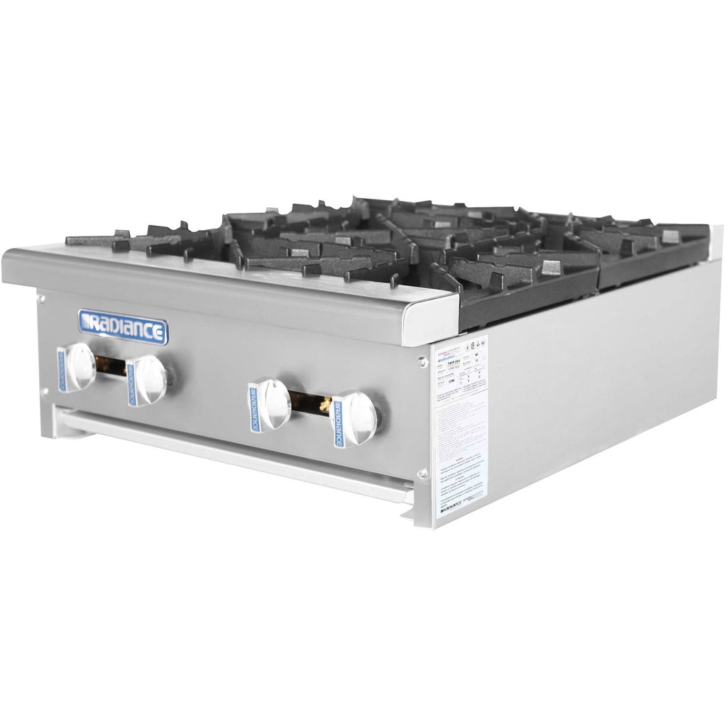 "Radiance Commercial Kitchen Hot Plate Range 24"" 4 Burners - AT Faucet"