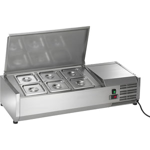 "Commercial Refrigerated Countertop Sandwich Salad Prep Unit 40"" - AT Faucet"