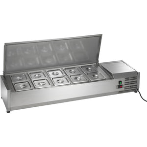 "Commercial Refrigerated Countertop Sandwich Salad Prep Unit 55"" - AT Faucet"