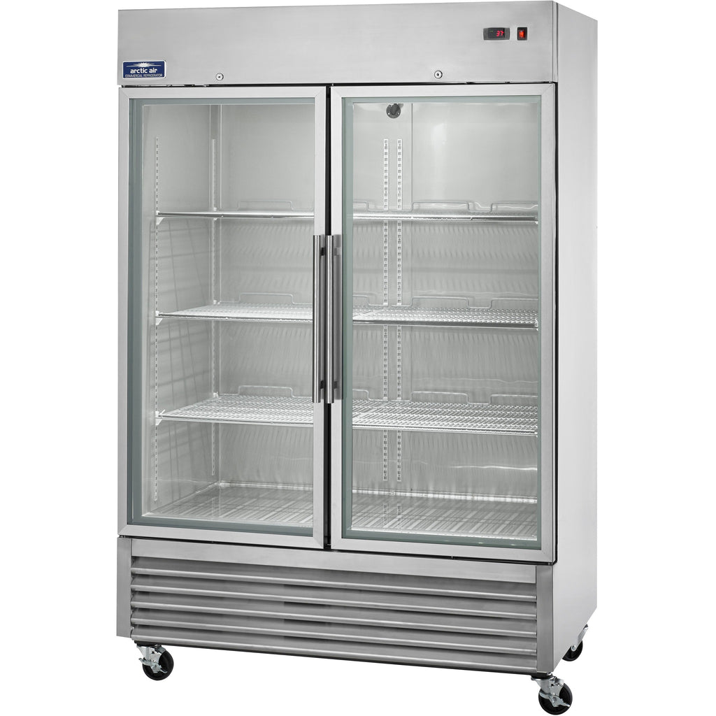 "Arctic Air Commercial Kitchen 2 Door Reach-In Refrigerator 54"" with Glass Door - AT Faucet"