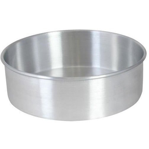 "Commercial Bakery 8"" x 2"" Layer Cake Pan Aluminum - AT Faucet"