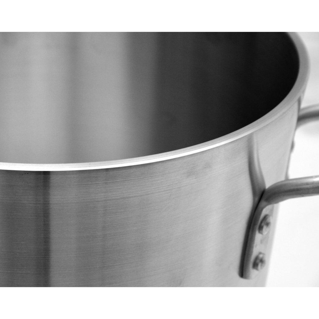 Commercial Kitchen 8 Qt. Aluminum Stock Pot - AT Faucet Bar & Restaurant Equipment New Jersey