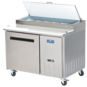 "Commercial Kitchen 48"" Refrigerated Pizza Prep Table - AT Faucet"