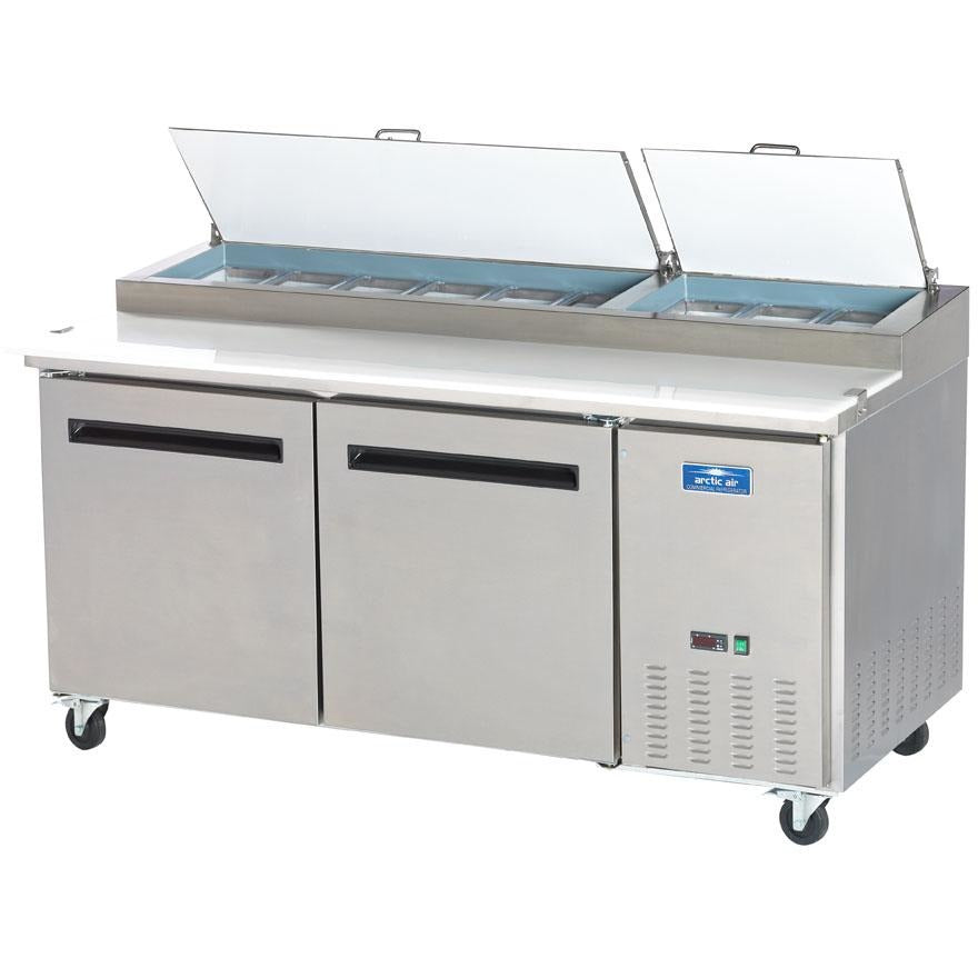 "Arctic Air Commercial Kitchen 71"" Refrigerated Pizza Prep Table - AT Faucet Bar & Restaurant Equipment New Jersey"