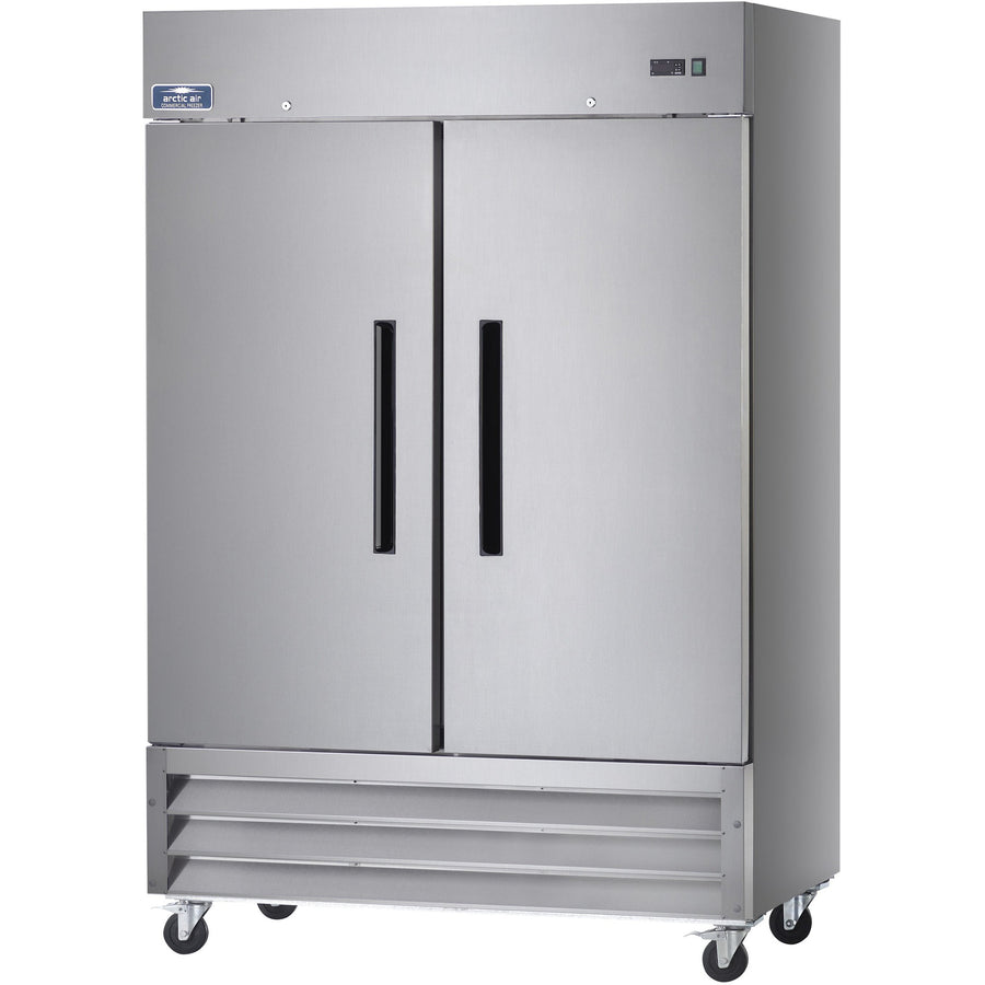 "Commercial Kitchen 2 Door Reach-In Refrigerator 54"" - AT Faucet"