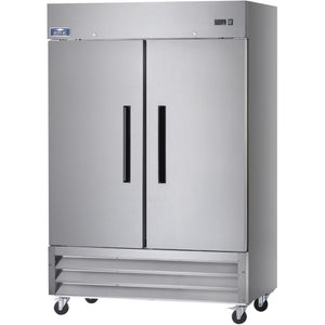 "Commercial Kitchen 2 Door Reach-In Freezer 54"" - AT Faucet"