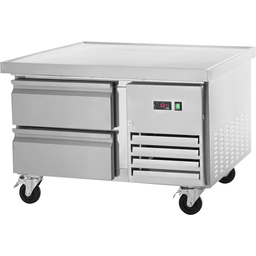 "Arctic Air Commercial Kitchen Refrigerated Equipment Stand 36"" with 2 Drawers - AT Faucet"
