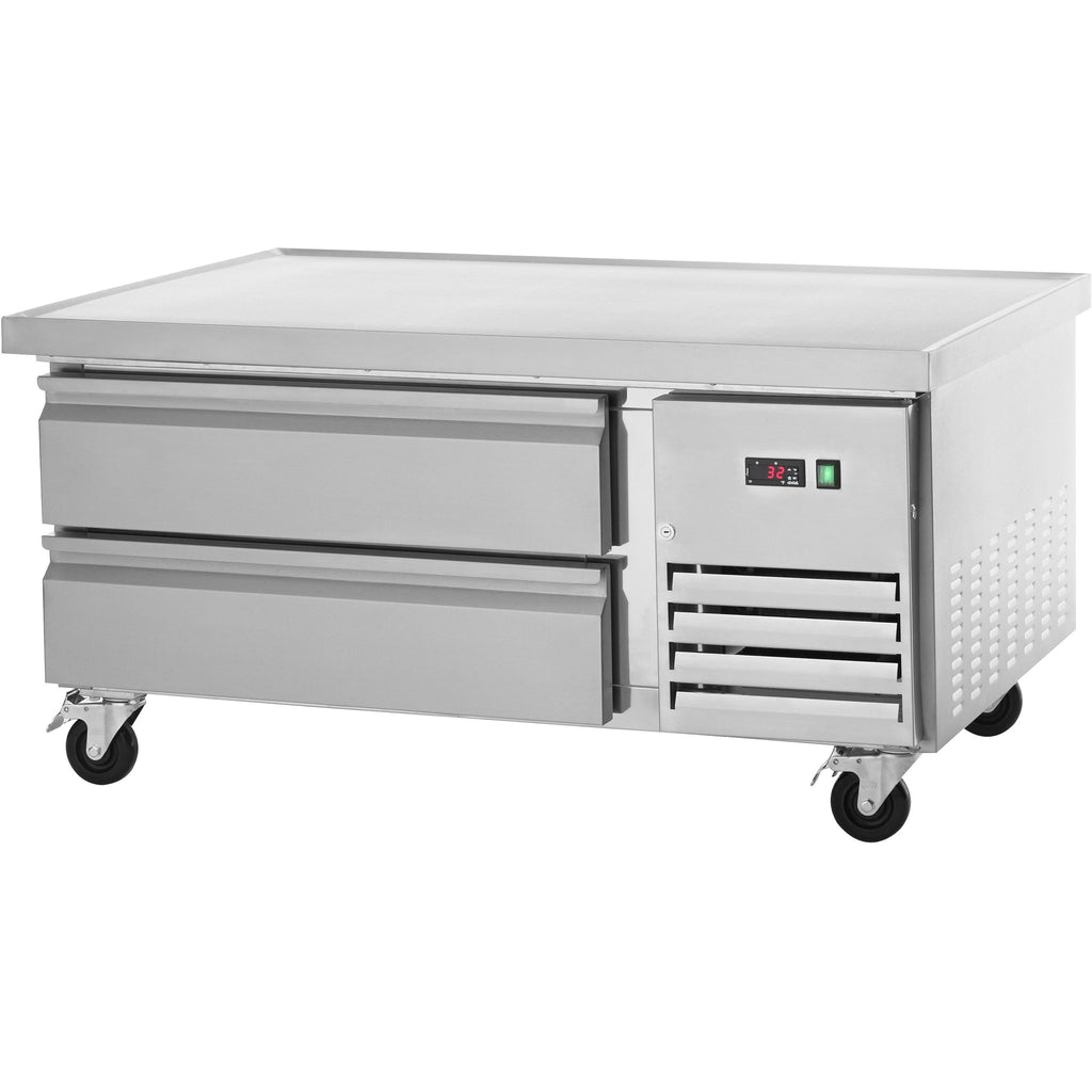 "Arctic Air Commercial Kitchen Refrigerated Chef Base 50"" with 2 Drawers - AT Faucet"
