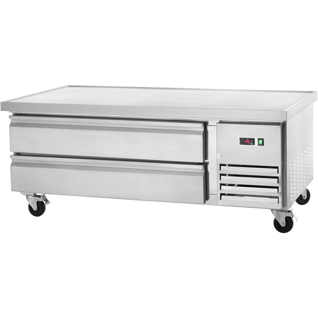 "Arctic Air Commercial Kitchen Refrigerated Chef Base 62"" with 2 Drawers - AT Faucet"