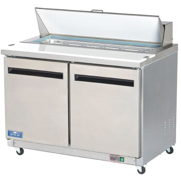 "Arctic Air Commercial Kitchen Refrigerated Sandwich / Salad Prep Table 48"" - AT Faucet"