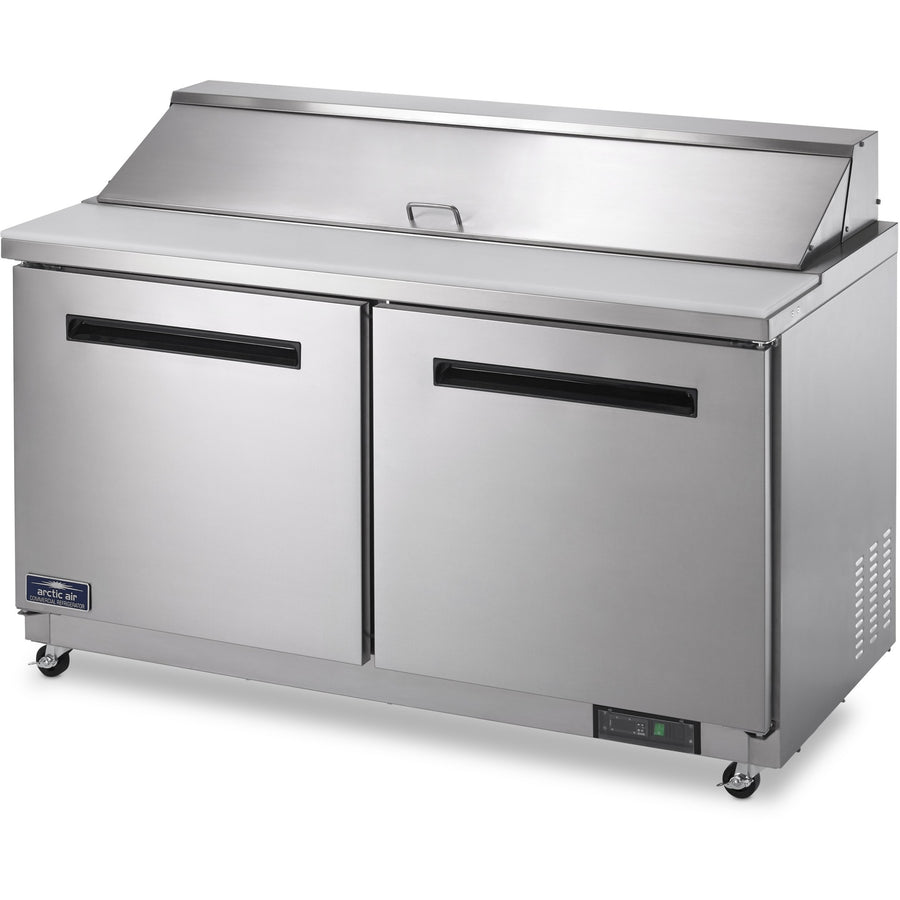 "Commercial Kitchen Refrigerated Sandwich / Salad Prep Table 62"" - AT Faucet"