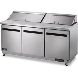 "Commercial Kitchen Refrigerated Sandwich / Salad Prep Table 72"" - AT Faucet"