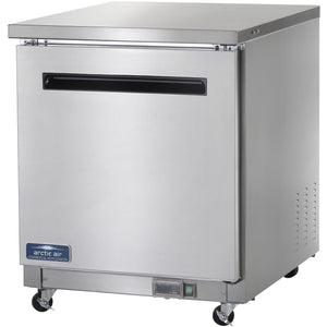 "Commercial Kitchen Single Door Undercounter Refrigerator 28"" - AT Faucet"