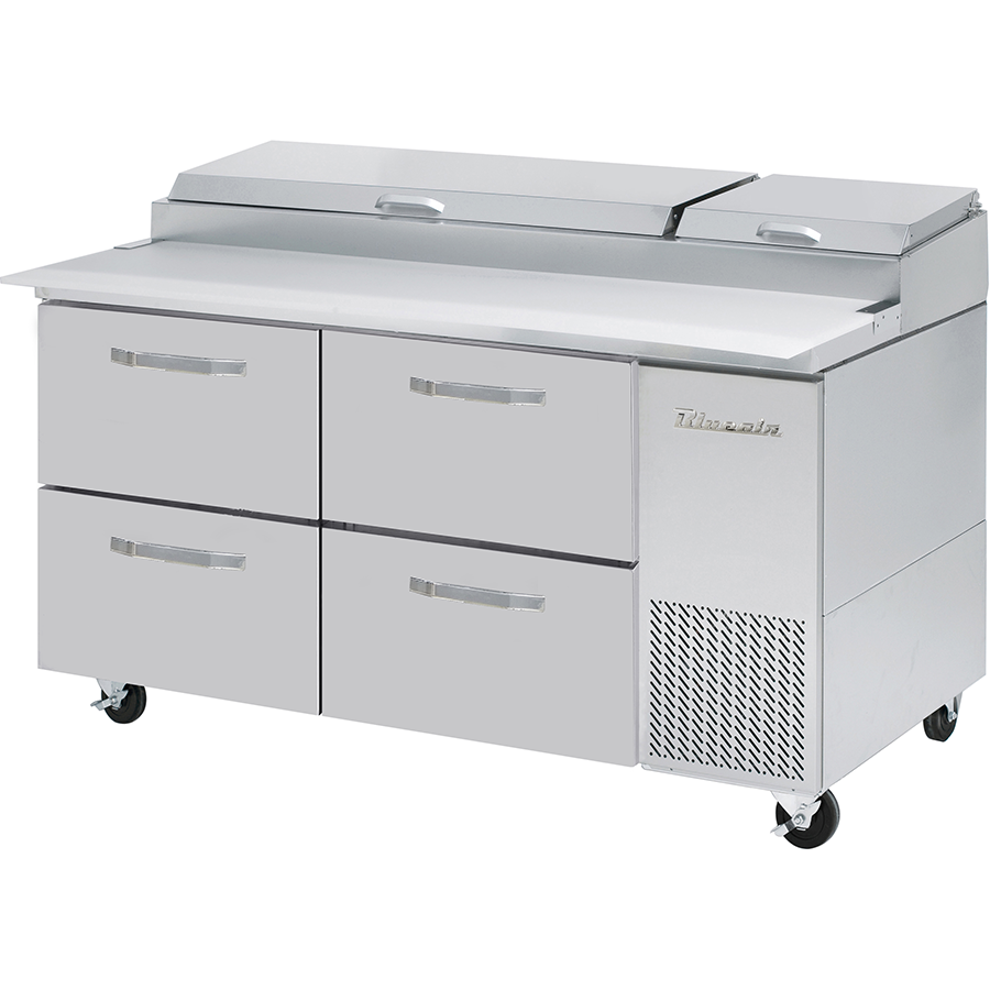 "Commercial Heavy Duty 20.2 Cu Ft. Refrigerated Pizza Prep Table 67"" with 4 Drawers - AT Faucet"