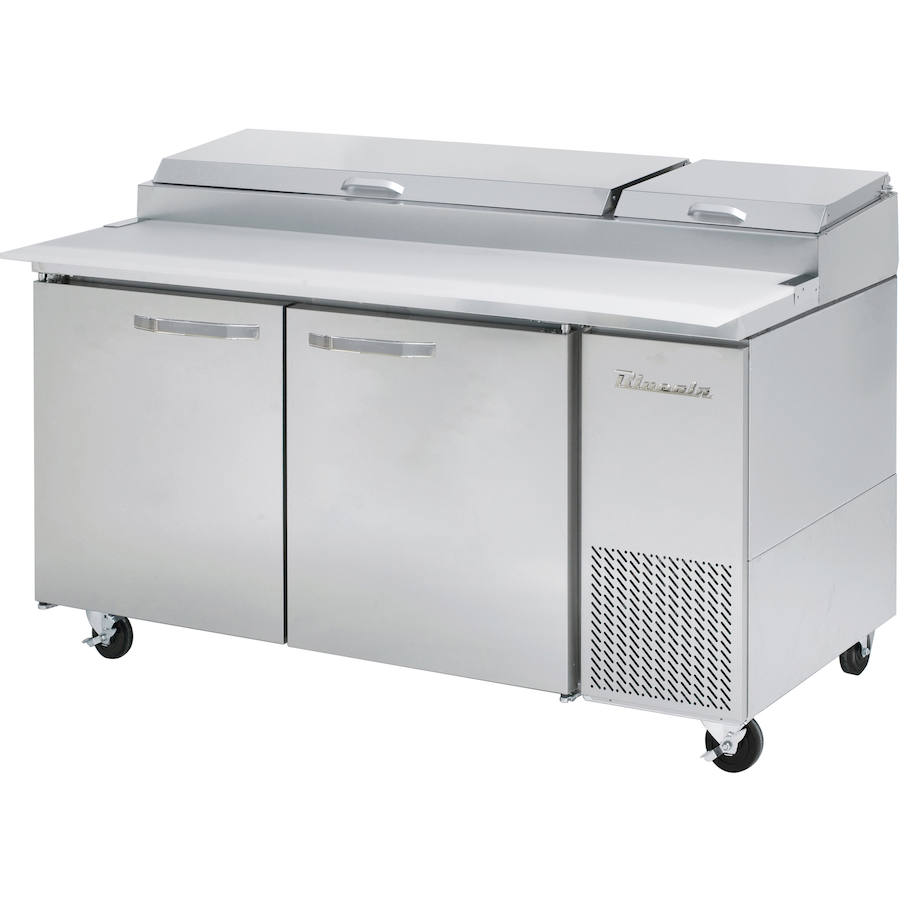 "Blue Air Heavy Duty 20.2 Cu Ft. Refrigerated Pizza Prep Table 67"" with 9 Pans - AT Faucet"