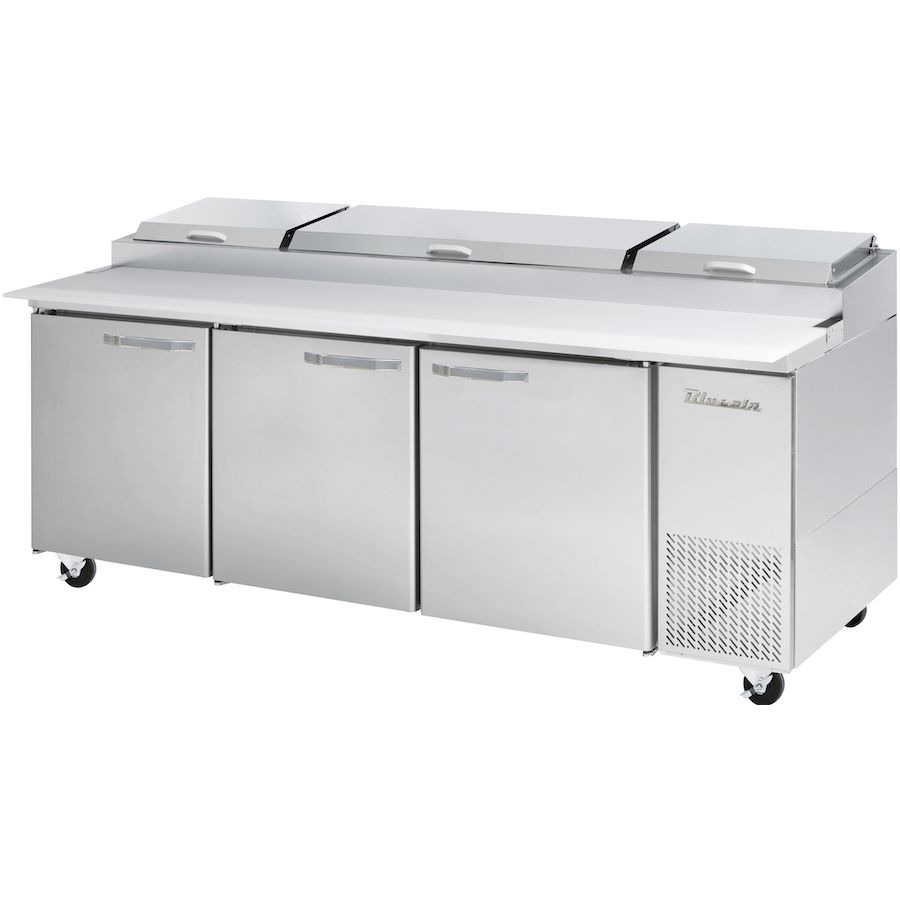 "Commercial Heavy Duty 30.8 Cu Ft. Refrigerated Pizza Prep Table 94"" with 12 Pans - AT Faucet"