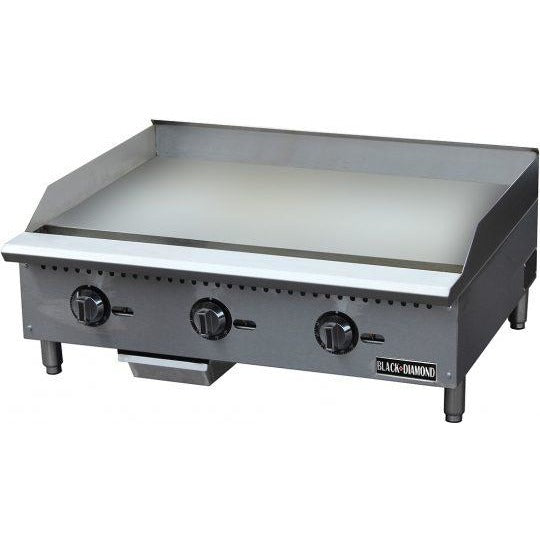 "Commercial Kitchen Thermostatic Control Countertop Natural Gas Griddle 36"" - AT Faucet"