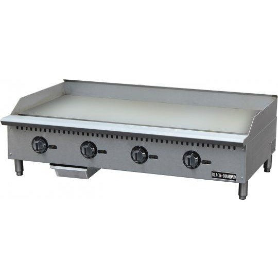 "Commercial Kitchen Thermostatic Control Countertop Natural Gas Griddle 48"" - AT Faucet"