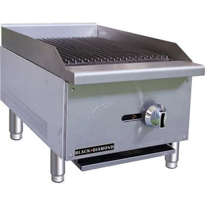 "Commercial Kitchen Countertop Natural Gas Char-Broiler 16"" - AT Faucet"