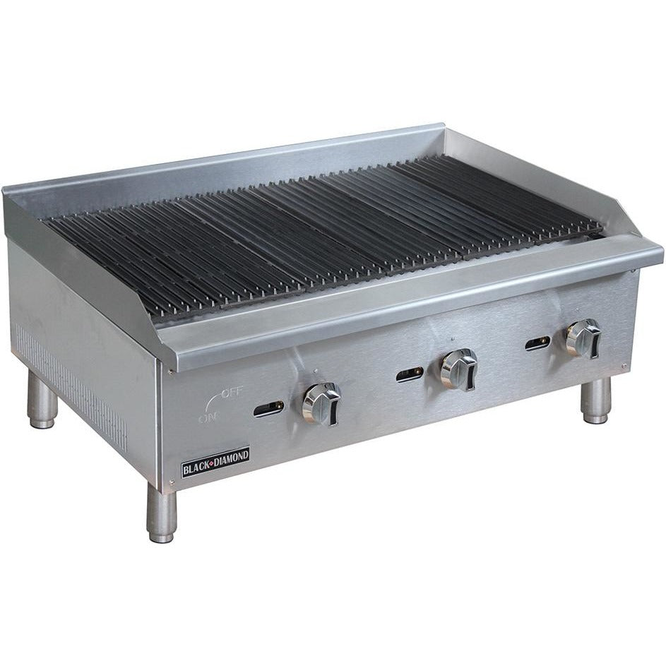 "Commercial Kitchen Countertop Natural Gas Char-Broiler 36"" - AT Faucet"