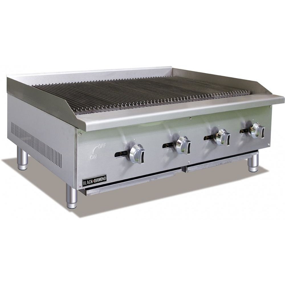 "Commercial Kitchen Countertop Natural Gas Char-Broiler 48"" - AT Faucet"