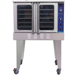 Blue Flame Commercial Kitchen 3 Burner Natural Gas Convection Oven - AT Faucet