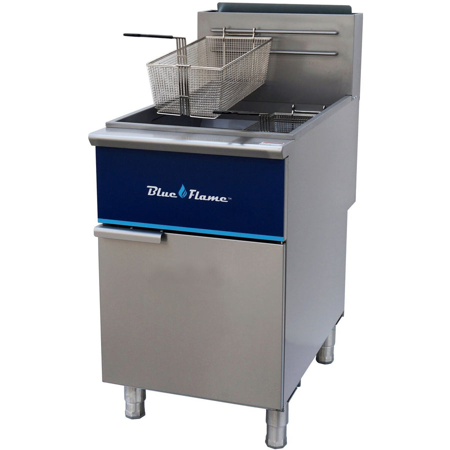 Commercial Kitchen 90 lb Natural Gas Fryer 150,000 BTU - AT Faucet
