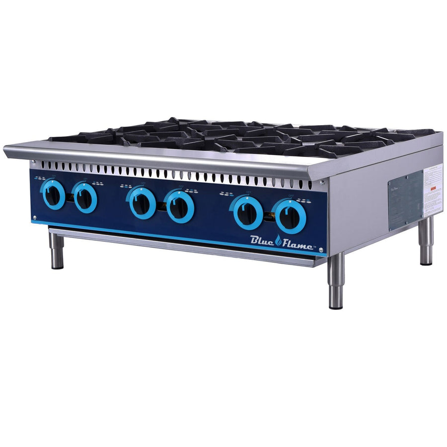 "Commercial Kitchen 36"" Gas Hot Plate Range 6 Burners - AT Faucet"