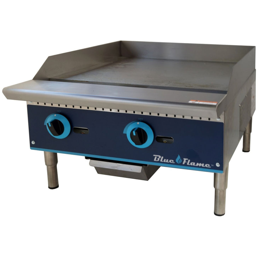 "Commercial Kitchen 24"" Manual Control Gas Griddle - AT Faucet"