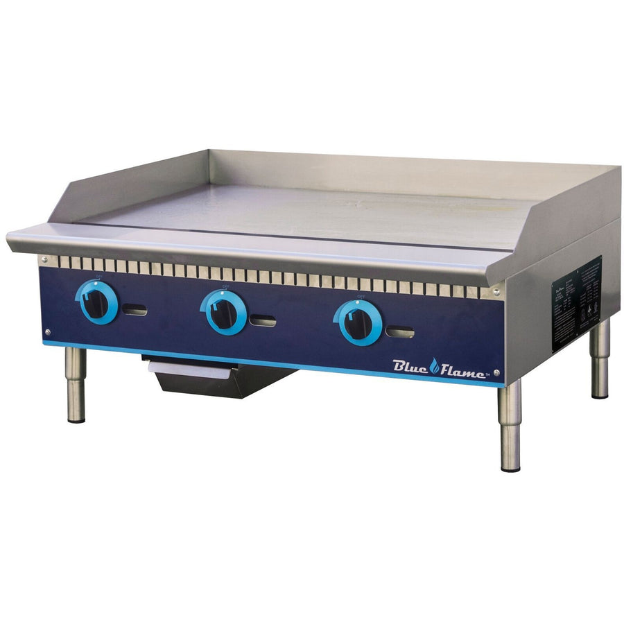 "Commercial Kitchen 36"" Manual Control Gas Griddle - AT Faucet"