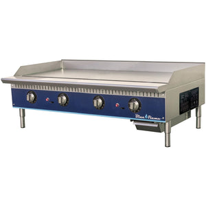"Blue Flame Commercial Kitchen 48"" Thermostatic Gas Griddle - AT Faucet"