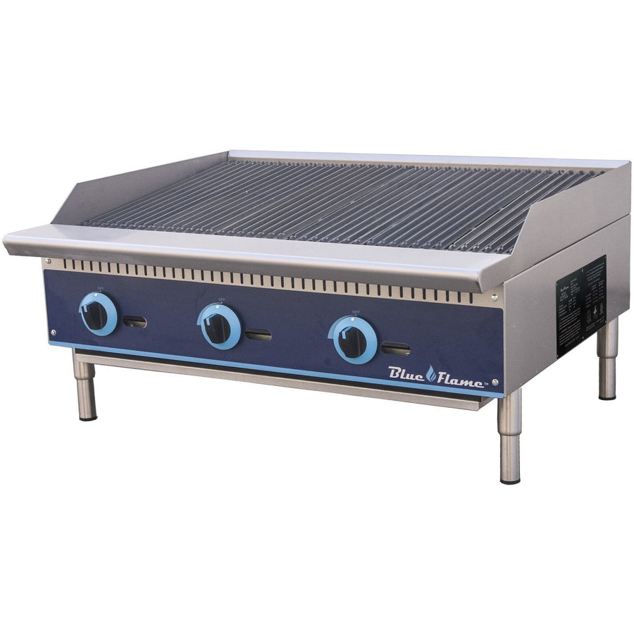 "Blue Air BFRB-36 Commercial Kitchen Gas Char-Broiler 36"" - AT Faucet"