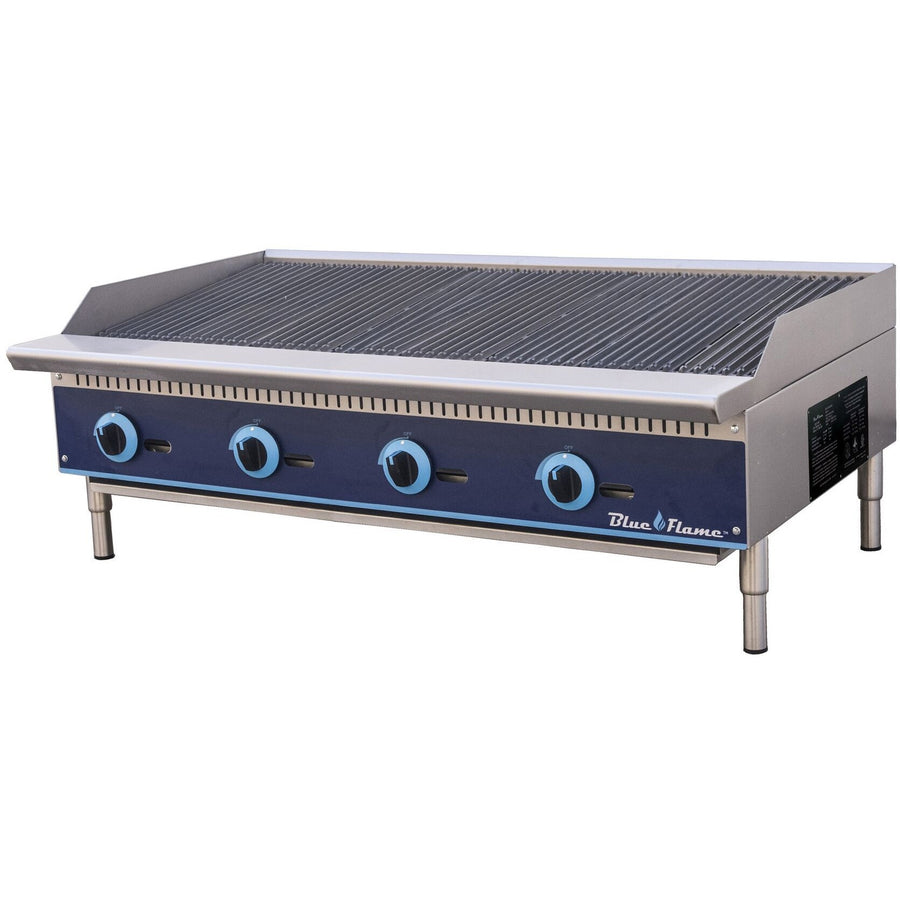"Blue Air BFRB-48 Commercial Kitchen Gas Char-Broiler 48"" - AT Faucet"