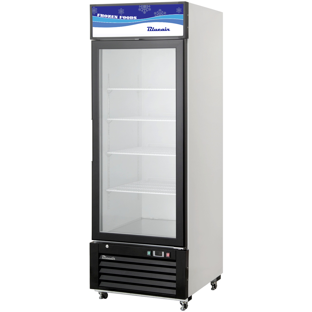 "Blue Air Heavy Duty 23 Cu Ft. Glass Door Merchandiser Freezer 27"" - AT Faucet"