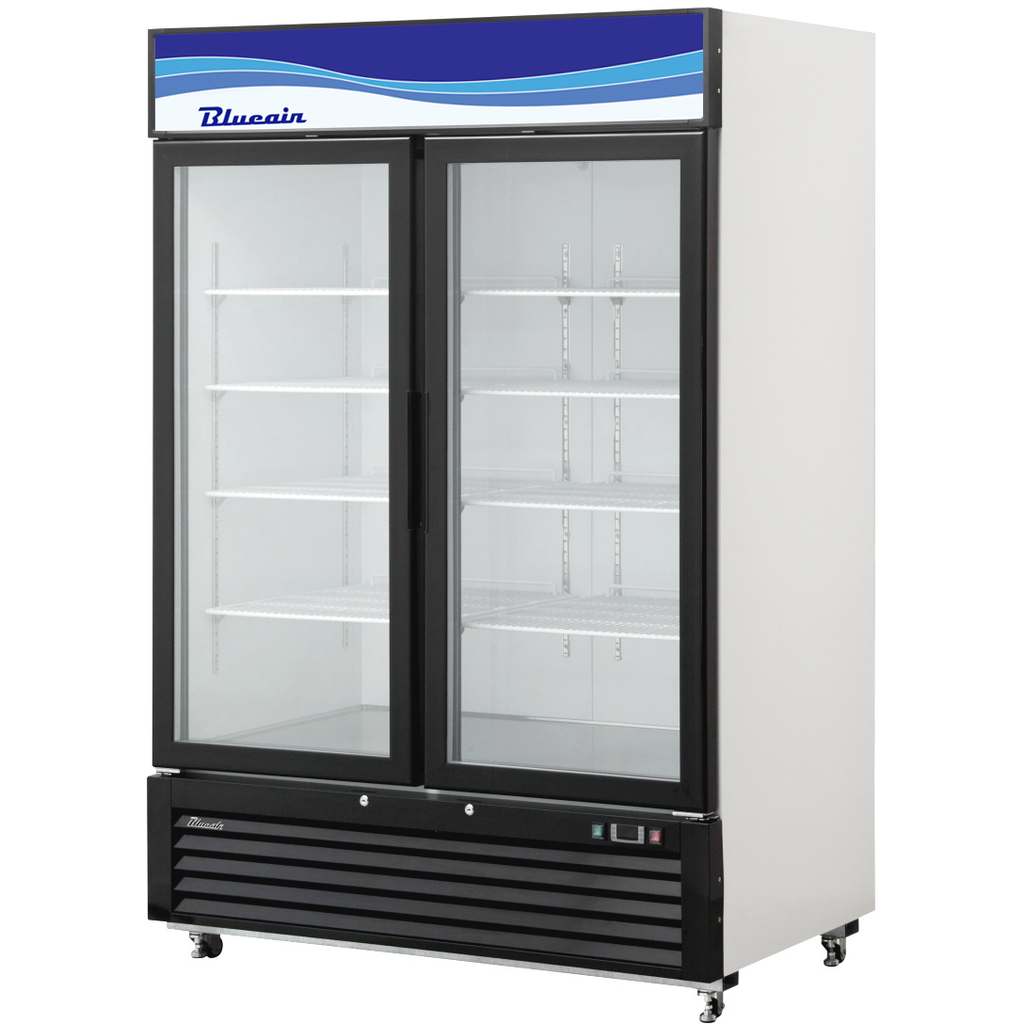 "Commercial Heavy Duty 49 Cu. Ft. Glass 2 Door Refrigerated Merchandiser 54"" - AT Faucet"