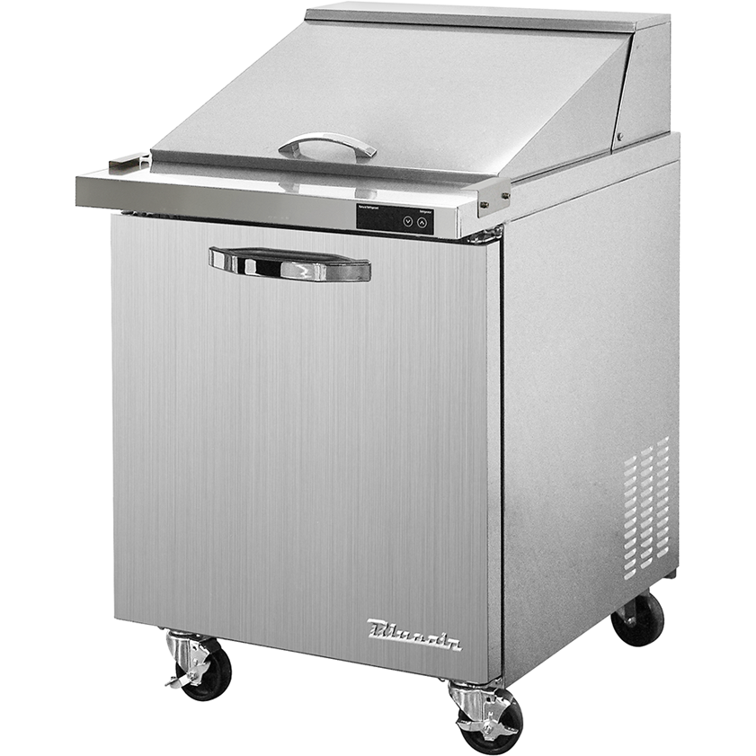 "Blue Air Heavy Duty 7 Cu. Ft. Mega Top Refrigerated Sandwich Prep Table 28"" - AT Faucet"