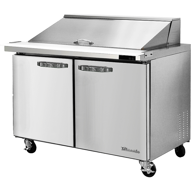 "Blue Air Heavy Duty 13.1 Cu Ft. Mega Top Refrigerated Sandwich Prep Table 48"" - AT Faucet"