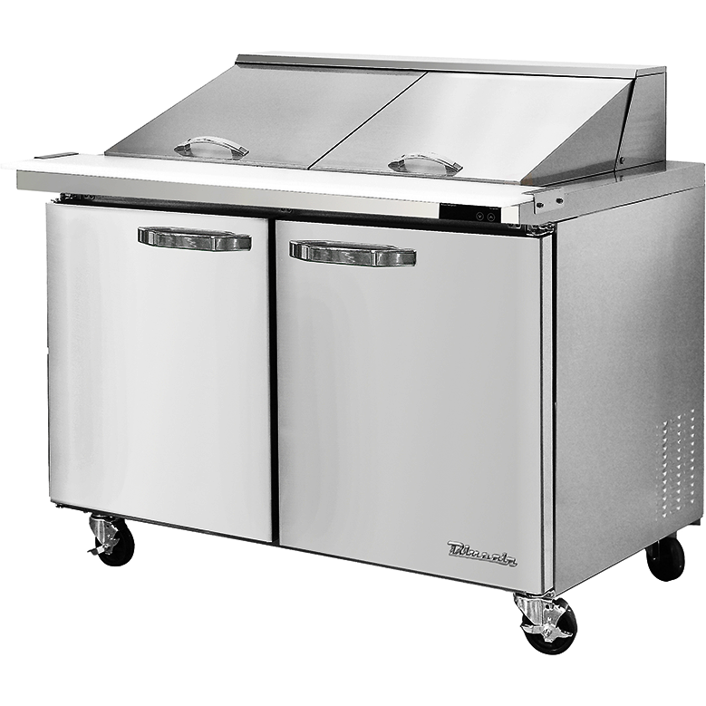 "Blue Air Heavy Duty 16.7 Cu. Ft. Mega Top Refrigerated Sandwich Prep Table 60"" - AT Faucet"