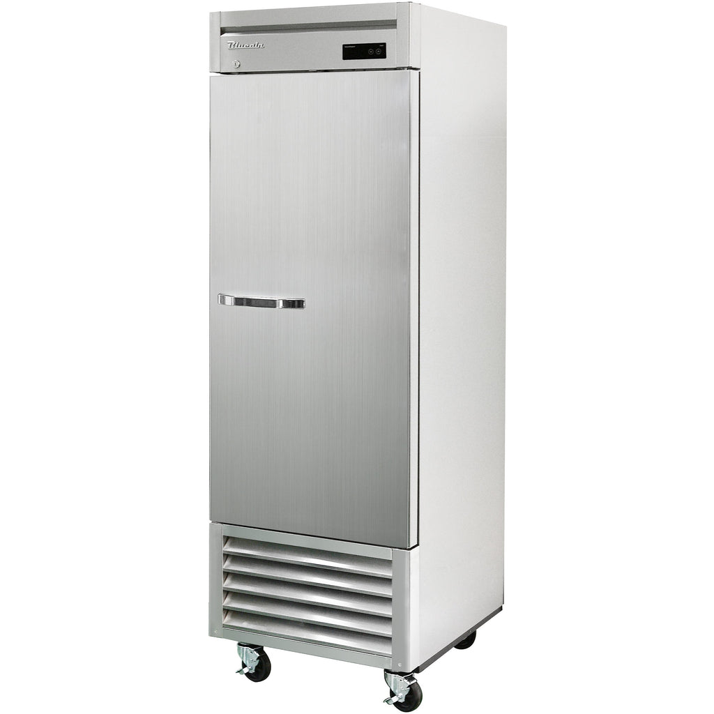 "Commercial Heavy Duty 23 Cu. Ft. Single Door Reach-In Refrigerator 27"" Bottom Mount Compressor - AT Faucet"