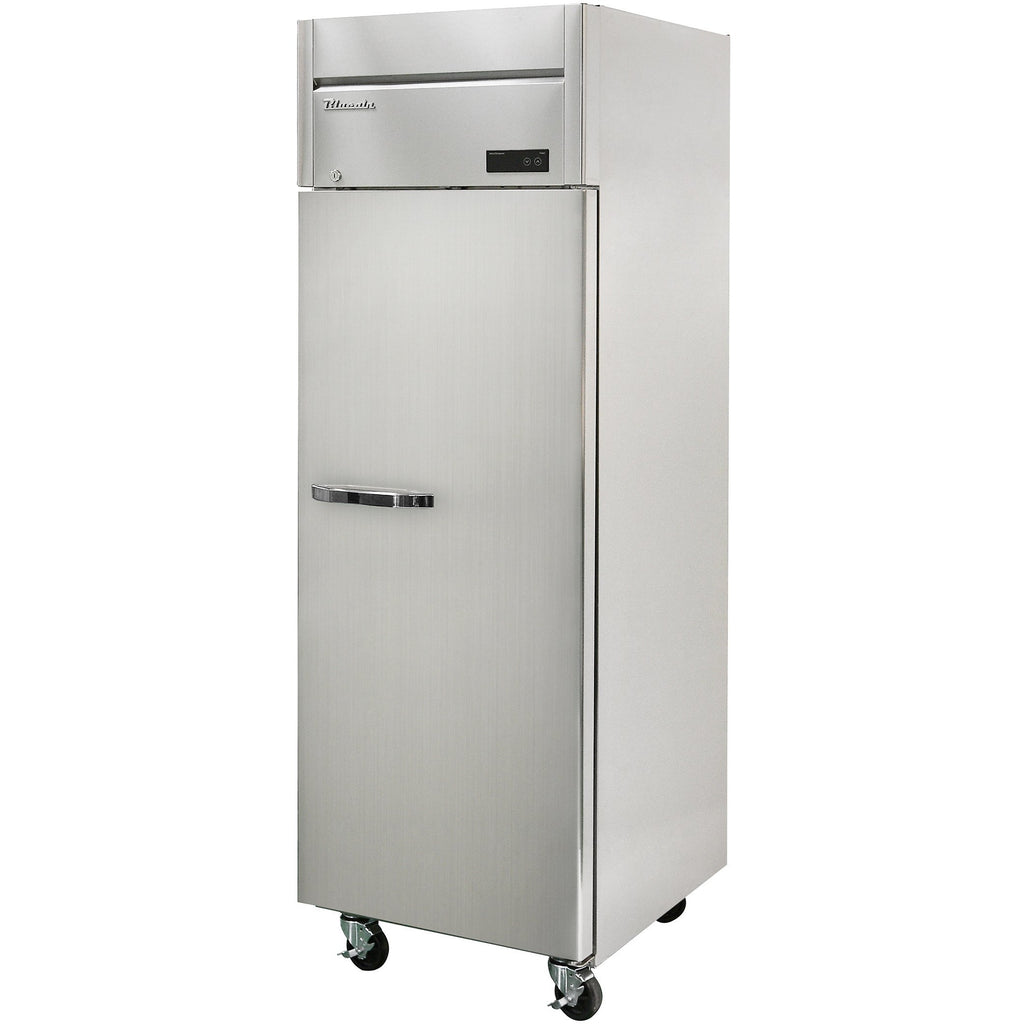 "Commercial Heavy Duty 23 Cu. Ft. Single Door Reach-In Refrigerator 27"" Top Mount - AT Faucet"