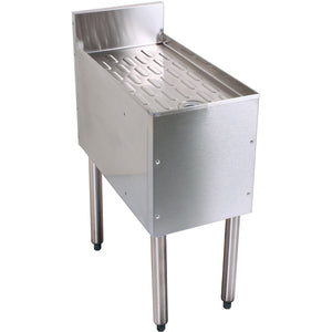 "Glastender Stainless Steel Underbar Drainboard 42"" - AT Faucet"