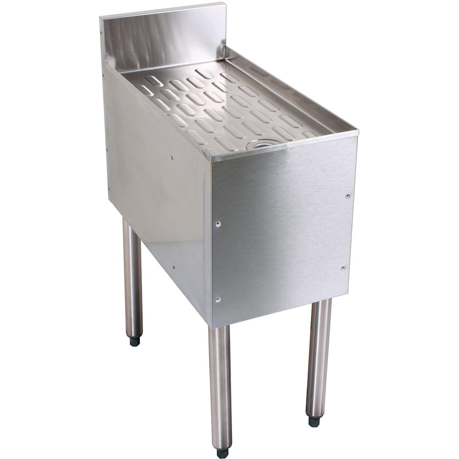 "Glastender Stainless Steel Underbar Drainboard 48"" - AT Faucet"