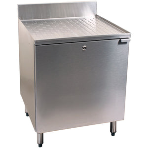 "Glastender C-DBCB-12 Stainless Steel Drainboard Cabinet 12"" - AT Faucet"