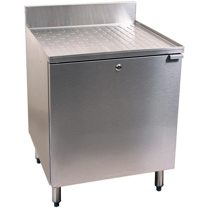 "Glastender C-DBCB-24 Stainless Steel Drainboard Cabinet 24"" - AT Faucet"