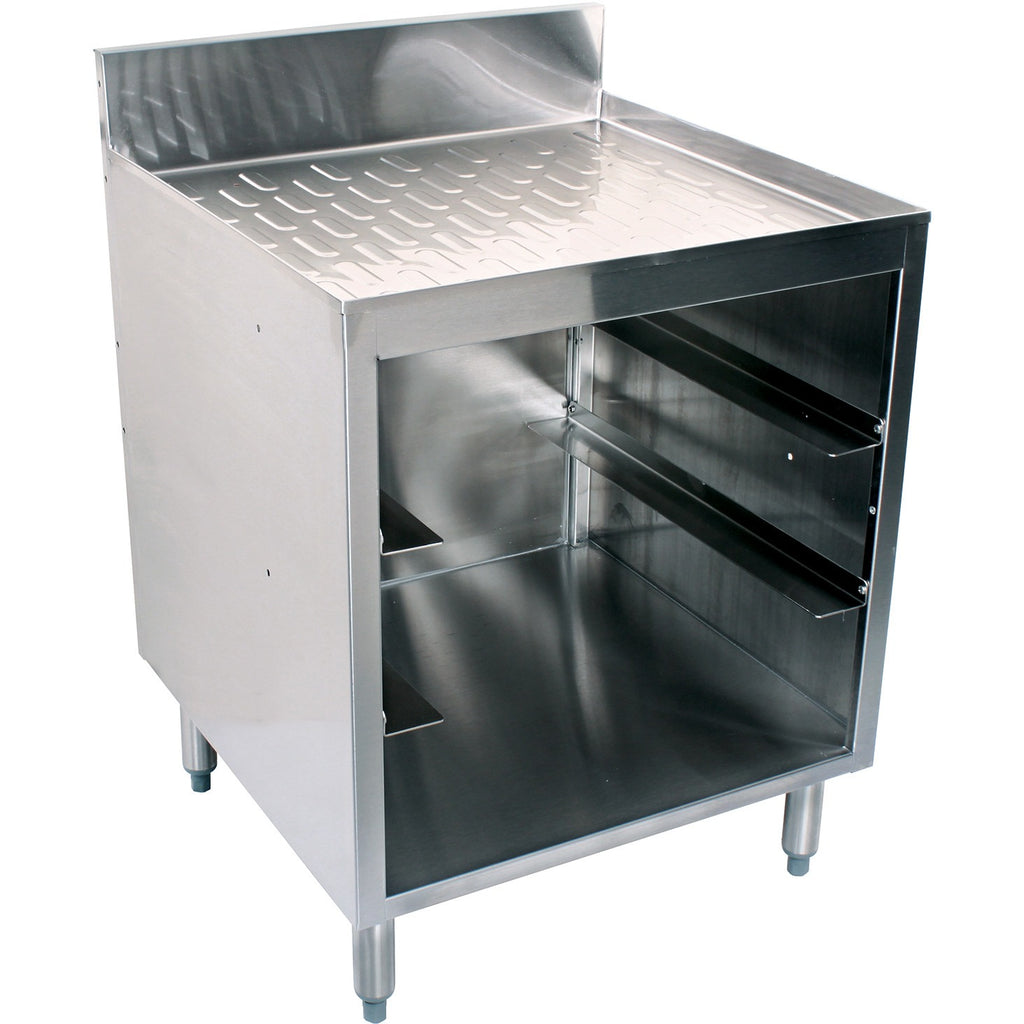 "Glastender Stainless Steel Glassrack 24"" with Drainboard - AT Faucet"