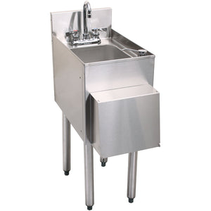 Glastender Stainless Steel C-HSA-12-D 1 Compartment Hand Sink - AT Faucet